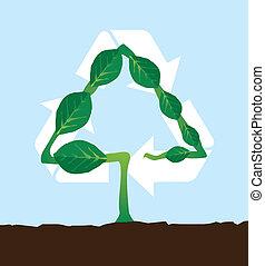 pianta, riciclaggio, naturale, simbolo