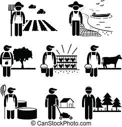piantagione, lavoro, agricoltura, agricoltura