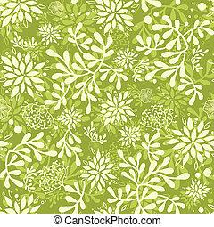 piante, subacqueo, modello, seamless, sfondo verde