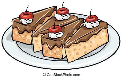 piastra, torte