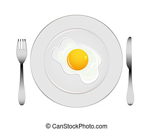 piastra, uovo