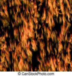 piastrella, rado, fiamme, seamless