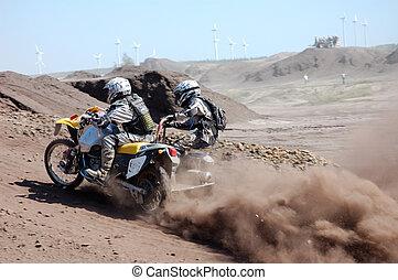 piattaforma girevole, motocross