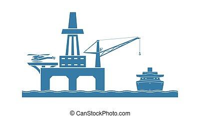 piattaforma mare aperto, olio