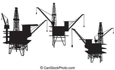 piattaforma, petrolio facendo
