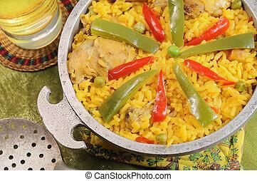piatto, pietanza, cubano, tipico