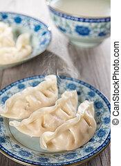 piatto, pietanza, fresco, gnocchi, asiatico, cinese
