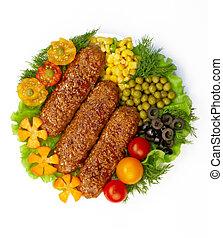 piatto, pietanza, verdura, saporito