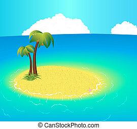 piccola isola, disabitato