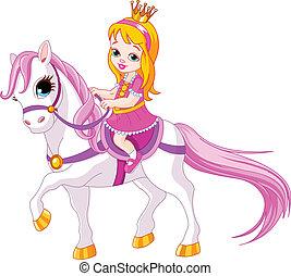 piccola principessa, cavallo