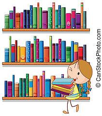 piccola ragazza, biblioteca