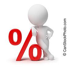 piccolo, -, 3d, percento, persone