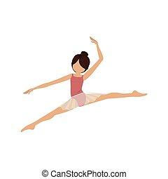 piccolo, atteggiarsi, lance, colorito, ballerino