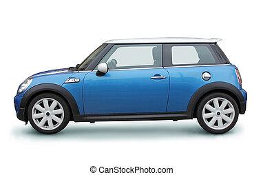 piccolo, automobile blu