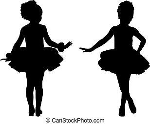 piccolo, ballerine, silhouette