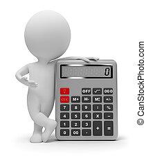 piccolo, calcolatore, 3d, -, persone