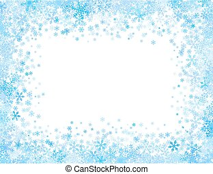 piccolo, cornice, fiocchi neve