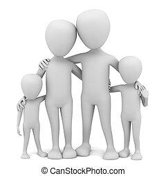 piccolo, family., 3d, -, persone