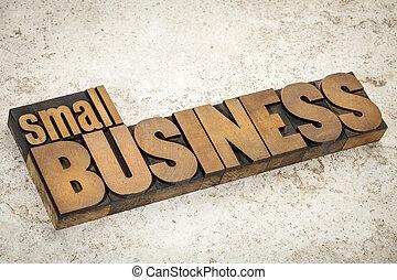 piccolo, legno, tipo, affari