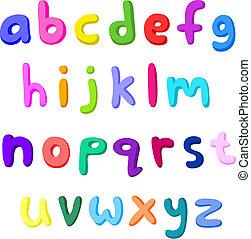 piccolo, lettere, colorito