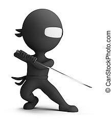 piccolo, ninja, 3d, -, persone