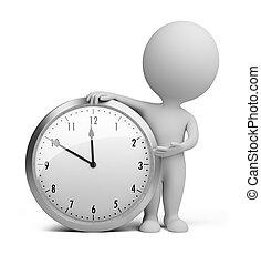 piccolo, orologio, -, 3d, persone