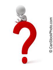 piccolo, people-question, 3d