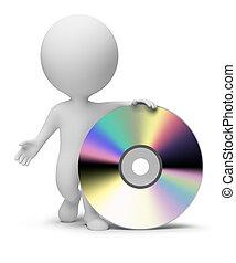 piccolo, persone, -, 3d, cd