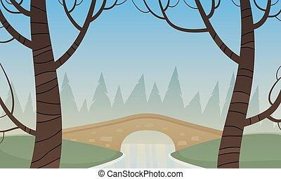 piccolo, ponte, pietra