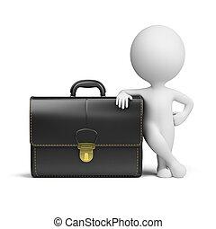 piccolo, portafoglio, 3d, -, persone