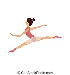 piccolo, posizione, ballerino, lance, colorito