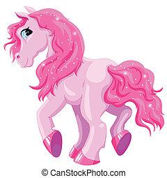 piccolo, rosa, pony