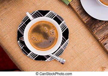 piccolo, rottura, caffè