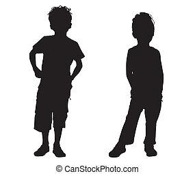 piccolo, silhouette, amici