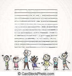 piccolo, vettore, bambini