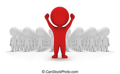piccolo, volontari, -, 3d, persone