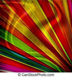pieghe, raggi sole, grunge, multicolor, fondo