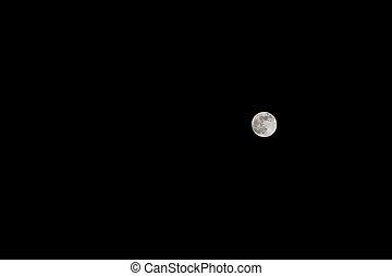 pieno, nero, luna, sky.