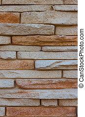 pietra, fatto, fondo, artificiale