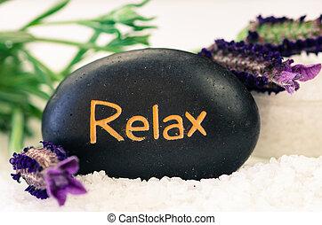 pietra, fiore, lavanda, lava, rilassare