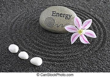 pietra, giardino zen, energia