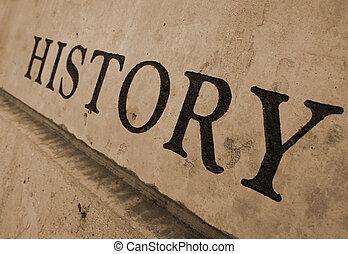 pietra, intagliato, storia