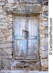 pietra, porta, legno, vendemmia, stile, parete, vecchio