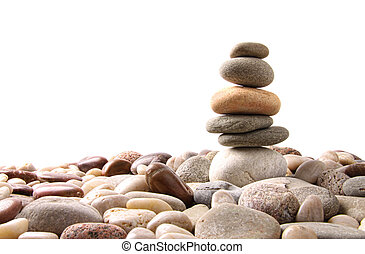 pietre, ciottolo, bianco, pila