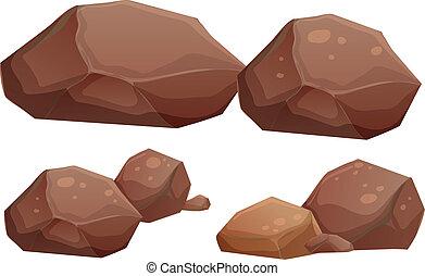 pietre, grande, piccolo