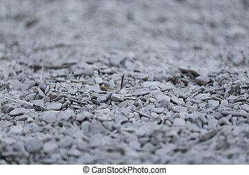 pietre, grigio, diffuso, fondo, piccolo