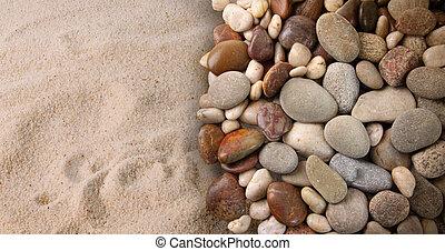 pietre, sabbia, fiume, colorito