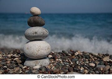 pietre, spiaggia