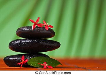 pietre, vita, :, &, equilibratura, terme, ancora, massaggio