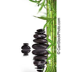 pietre, vita, spazio, testo, libero, lava, terme, cavoletti di bruxel, bambù, ancora
